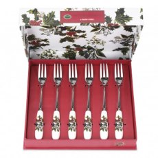 The Holly & The Ivy Pastry Forks (Set of 6)
