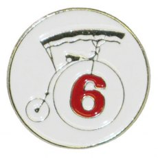 Number Six / No.6 Enamel Prisoner Pin Badge