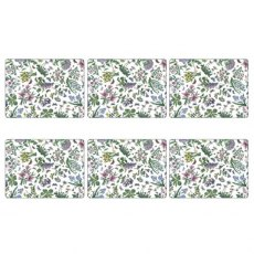 Botanic Garden Pimpernel Set of 6 Chintz Placemats