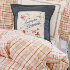 Lexington Seaside Summer Collection Single Bed Set: Red Check