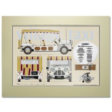 The Prisoner Village Taxi Scale Drawing Mounted Print