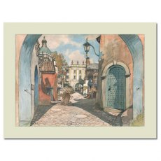 Battery Square, Portmeirion: Mounted Fine Art Prin