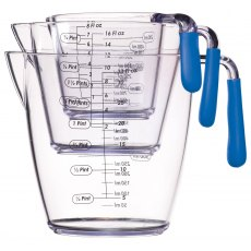 Set of Three Acrylic Measuring Jugs