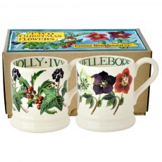 Emma Bridgewater Set of 1/2 Pint Winter Flower Mug