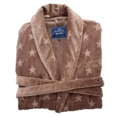 Lexington Holiday Star Bath Robe - Mole