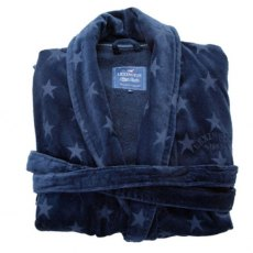 Lexington Holiday Star Bath Robe - Dress Blue Small