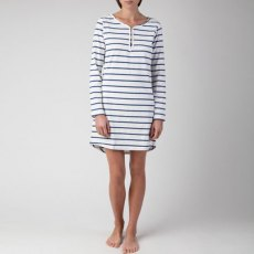 Lexington Holiday Nightgown - White & Blue (Small)