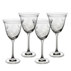 Botanic Garden Set of 4 Crystal Wine Glasses