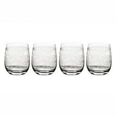 Botanic Garden Set of 4 Crystal Glass Tumblers
