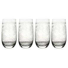 Botanic Garden Set of 4 Crystal High Ball Glasses