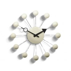 Orbital Wall Clock Cream