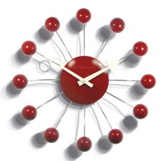 Orbital Wall Clock Red