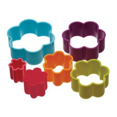 Colourworks Set Of 6 Flower Cutters