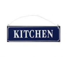 French Blue Metal Kitchen Sign