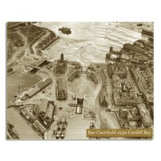 Cardiff Bay 1930 Canvas Art Print