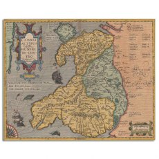 Old Map of Wales Canvas Art