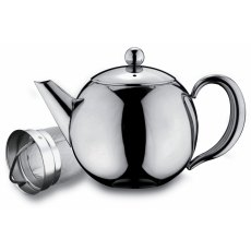 Cafe Ole Rondeo Stainless Steel Tea Pot with Infuser