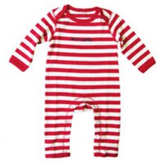 The Prisoner Striped Romper Suit 6-12 months Red