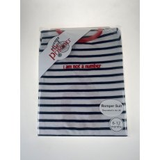The Prisoner Striped Romper Suit - 6-12 months Navy