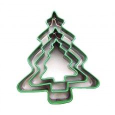 Green Christmas Tree Cutters - Christmas Pastry & Biscuit Cutters Set of 3