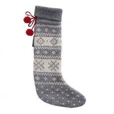 Lexington Holiday Christmas Stocking - Grey