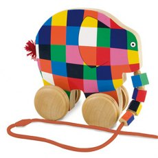 Pull Along Elmer The Elephant