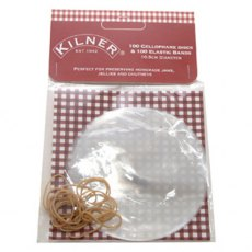 Kilner Cellophane Jam Jar Disc Covers with Bands