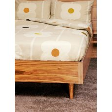 Orla Kiely Sand Cotton Giant Abacus Single Duvet Cover