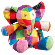 Elmer Rattle Plush Soft Toy