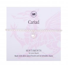 Carrie Elspeth Cariad Welsh Sentiment Bracelet