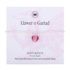 Carrie Elspeth LLawer O Gariad Sentiment Bracelet