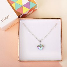Carrie Elspeth Paradise Shine Swarovski Heart Necklace