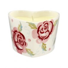 Emma Bridgewater Rose & Bee Heart Candle