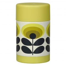Orla Kiely 70s Flower Oval Food Flask Yellow
