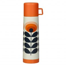 Orla Kiely 70's Oval Flower Orange Flask