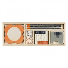 Orla Kiely Wooden Office Set