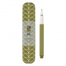 Orla Kiely Linear Stem Seagrass Green Ballpoint Pen