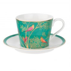 Sara Miller Chelsea Collection Green Tea Cup & Saucer