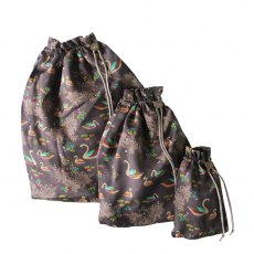 Sara Miller London Silk Travel Bags Swan