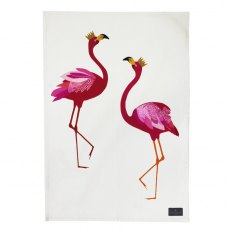 Sara Miller Tea Towel Flamingo