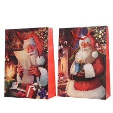 Traditional Medium Santa Gift Bag