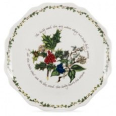 "The Holly & The Ivy 11"" Scalloped Platter"