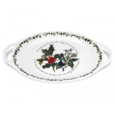 The Holly & The Ivy Oval Handled Platter 18inch