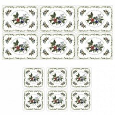 The Holly & The Ivy Placemats & Free Coasters (Set of 6)