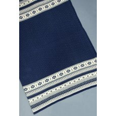 Navy Nordic Throw
