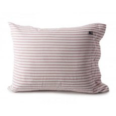 Lexington City Ticking Herringbone Pillowcase - Red & White