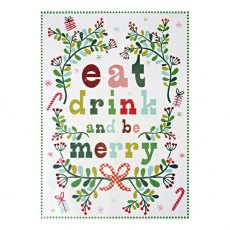 Bright Xmas Pattern Tea Towel