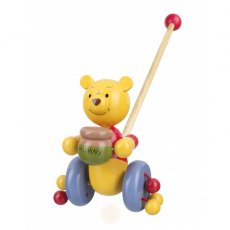 Winnie The Pooh Wooden Push Along Boxed