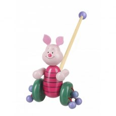 Piglet Wooden Push Along Boxed