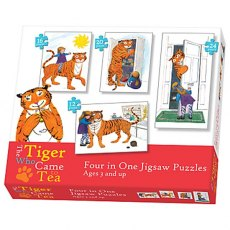 The Tiger Came to Tea 4 in 1 Puzzle